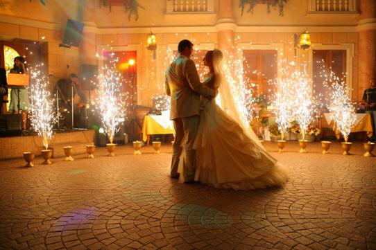 Свадебная шоу-программа должна правильно вписаться в общую структуру